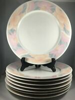 "8 SARA by China Pearl 10 1/2"" Dinner Plates 9030 Discontinued Pattern 1990"