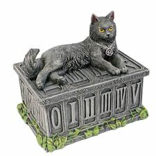Fortune's Watcher Tarot Box 17cm Long Nemesis Now Black Cat Pentagram Wiccan