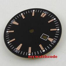 34.8mm white Watch Dial golden marks for ETA 2836 Mingzhu 2813 4813 Movement D64