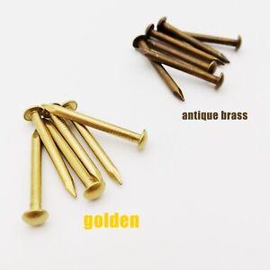 10/100X Pure Copper Brass Small Mini Round Head Nail Tack Dia=1.2-2.8mm L=8-50mm