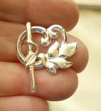 Fancy Togggle Clasp Sterling silver Focal clasp Leaf Design