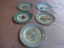 Set of 4 Enoch Wedgewood- Christmas Plate for Avon & 1 Tenderness Plate-Lot Of 5