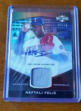 NEFTALI FELIZ 2011 TOPPS TRIPLE THREADS GAME JERSEY & CERTIFIED AUTOGRAPH #05/75