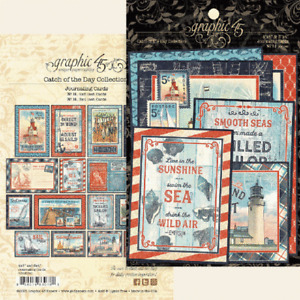 Graphic 45 - Catch Of The Day - Ephemera and Journaling Cards 32/pk Mixed Media