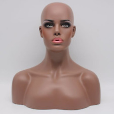 New Design Realistic Fiberglass Female Mannequin Head Bust For Wigs/Jewelry 01