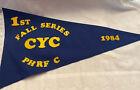 Vintage Canvas Charlevoix Yacht Club 1984 Burgee 1st Fall Series PHRF C