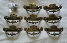National Lock # 3827 Colonial eagle drawer pull Lot of 8 desk chest cabinet
