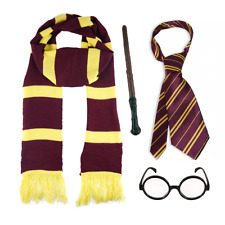 Kids Wizard Harry Potter Book Week Fancy Dress Wand Scarf Glasses Tie Costume