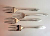 Queen Bess II Salad or Dessert Forks (Set 4) Tudor Plate Oneida Community Plate