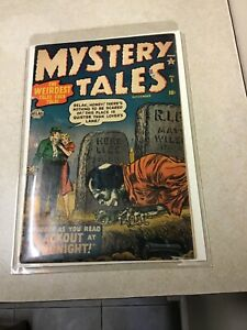 MYSTERY TALES # 5 FN- ATLAS COMICS 1952