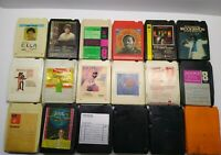 Vintage Lot of 18 Mixed Genres Eight 8 Track Tapes Cartridges UNTESTED