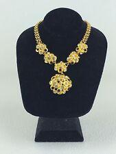 Vintage Ben Amun Chunky Rhinestone Embellished Necklace