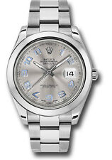 Rolex Oyster Perpetual Datejust II 41mm StainlessSteel Silver Arabic Dial 116300