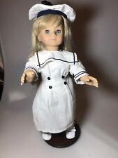 Vintage Gotz 305/16 Blonde Hair Blue Eyes W/Stand