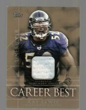 Ray Lewis 2009 Topps Career Best Game Worn Jersey Ravens #38/99