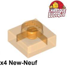 Br L Orange Round 1x1 with Flower edge Lego 24866-10x Fleur // Plate NEUF