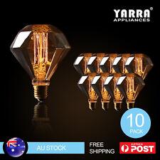 10X Vintage Edison Bulbs Diamond Shape 15W Filament Cafe Light Warm White 2700K