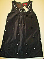Children's Place Dress Sz. 8 Girl's Black Velvet Lined Jumper QUALITY Party NWT