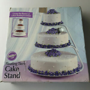 Wilton Floating 3 Tiers Cake Stand for Wedding, Anniversary 8, 12, 16 inches