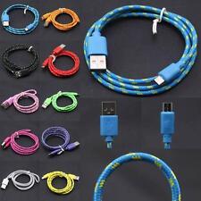 2M/6FT Nylon Micro USB 2.0 Kabel Datenkabel Ladekabel Ladegerät Lade Für Samsung