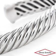 DAVID YURMAN Sterling Silver Sculpted Cable Cuff Bracelet 36.1 Grams NR
