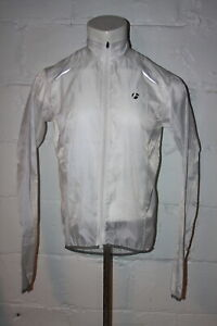 EUC Bontrager White Sport Wind Full Zip Light Cycling Jacket Windbreaker Sz M