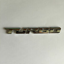 TURBO Stick on Badge Boot Adhesive Car Van Universal Emblem Sticker Metal Chrome