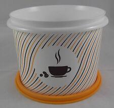 Tupperware Kaffeedose Dose Behälter Box mit Deckel 1,1 l Braun / Orange Neu OVP