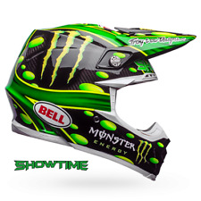 BELL MOTO 9 FLEX MC MONSTER ENERGY REPLICA MCGRATH SHOWTIME SMALL HELMET
