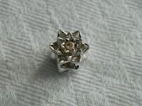 Clogau Silver & Welsh Gold Flower Bead Charm RRP £109.00