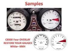 Honda CB500 Overlay Cafe Racer Gauge Face Decal Applique KMH White Dial Clock 71