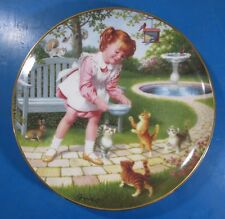 """Friday's Child by Elaine Gignilliat Children Of The Week Plate 8-1/8"""" Diameter"""