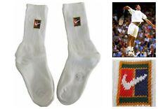 More details for vtg 90's nike supreme court tennis crew socks x 2  sampras wimbledon og uk 7-11