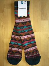 SmartWool PREMIUM Crystal Grid Crew Socks–Lochness Casual Dress 50%OFF–Women MED