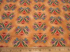 Jim Shore Animal Parade Floral Print Cotton Fabric Peach