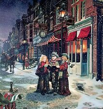 The Carolers~counted cross stitch pattern #1387~Holidays Christmas Vintage Chart