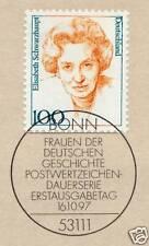BRD 1997: Elisabeth Schwarzhaupt Nr. 1955 mit Bonner Ersttagsstempel! 1A! 1610