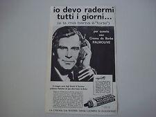 advertising Pubblicità 1961 CREMA DA BARBA PALMOLIVE