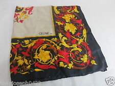 AUTH VINTAGE CELINE PARIS SILK SCARF/SHAWL USED MADE IN ITALY