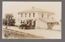 Real Photo Postcard Portkent, New York Rennell Bro.'s Store Post Office Sign