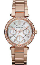 Orologio donna polso MICHAEL KORS MINI PARKER MK5616 crono acciaio oro rosa