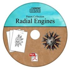 Radial Engine, Rotary Engine, Patent Collection, 30 Top Patents on CD