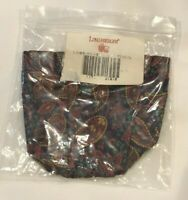 Longaberger Fathers Day Pencil Basket Paisley Fabric Liner #21610 NEW