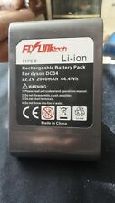 Flylink Tech Rechargable battery for Dyson DC34 22.2 V  2000mAh 44.4Wh