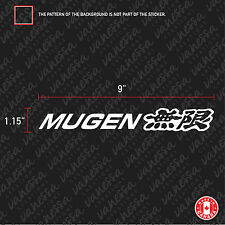 2X MUGEN TUNING HONDA sticker vinyl decal