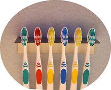 Zahnbürstenhalter aus Edelstahl für 6 Zahnbürsten o. Aufsteckbürsten oral b