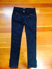 $595 dolce & gabbana D&G women's dark skinny jeans zippers IT 38 US 2