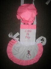 GIRLS LITTLE BO PEEP COSTUME APRON & MOP TOP HAT M2O Most colors please ask