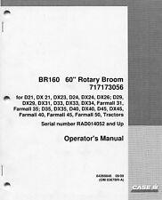 "Case IH International Harvester Tractor BR160 60"" Rotary Broom Operator's Manual"