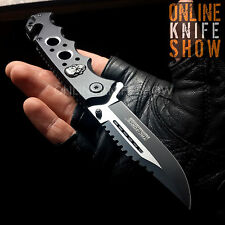TAC FORCE SPRING ASSISTED TACTICAL FOLDING POCKET KNIFE Open Assist Blade Skull